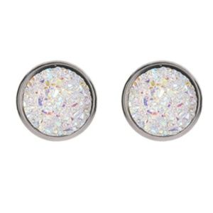 White Druzy Earrings - FREE WITH PURCHASE